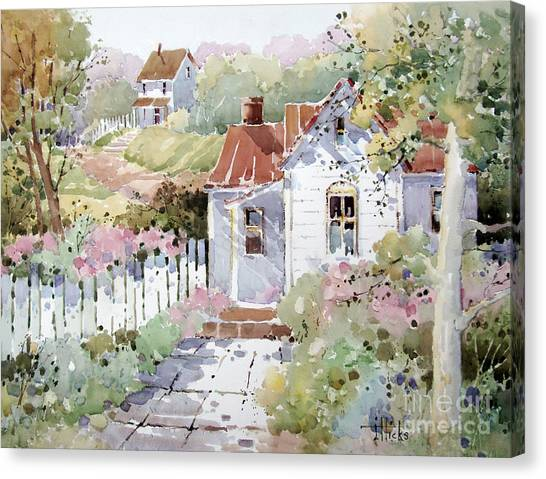 Summer Time Cottage Canvas Print