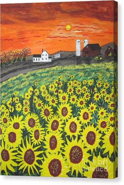 Sunflower Valley Farm Canvas Print