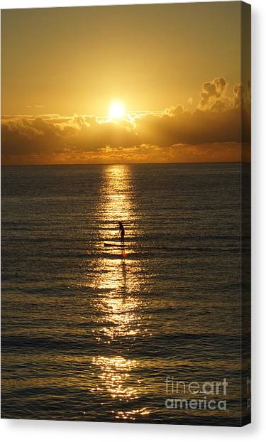 Sunrise In Florida Riviera Canvas Print