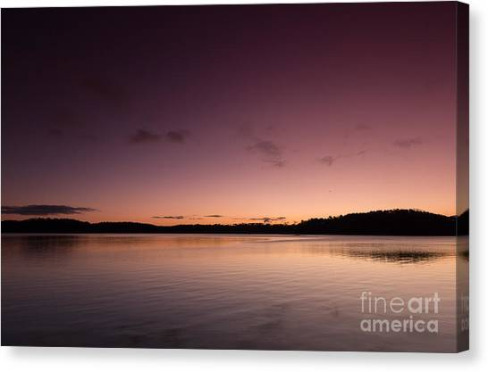 Sunrise On Lake Lanier Canvas Print