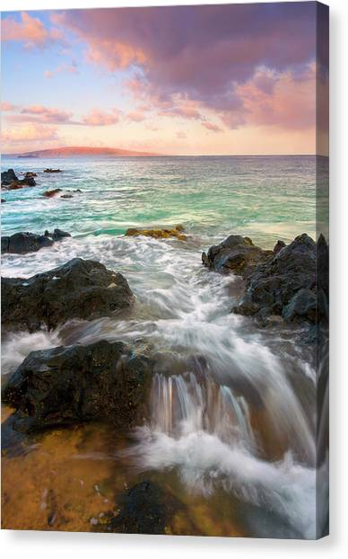 Lava Canvas Print - Sunrise Surge by Mike  Dawson