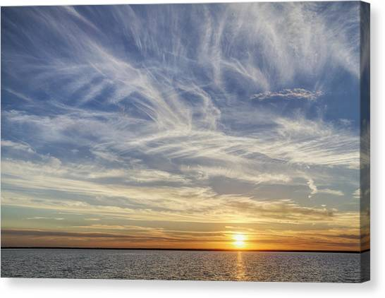 Canvas Print featuring the photograph Sunset At Cheyenne Bottoms by Rob Graham