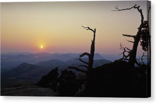 Sunset From Mt Scott Canvas Print