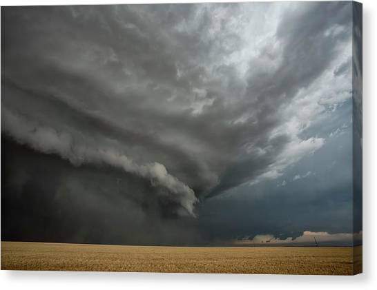 Hailstorms Canvas Print - Supercell Thunderstorm by Roger Hill/science Photo Library