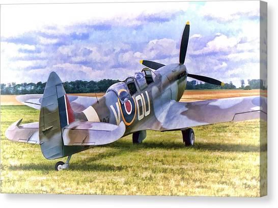 Supermarine Spitfire T9 Canvas Print