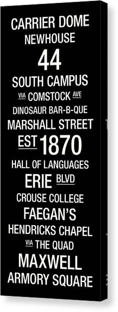 Syracuse University Canvas Print - Syracuse College Town Wall Art by Replay Photos