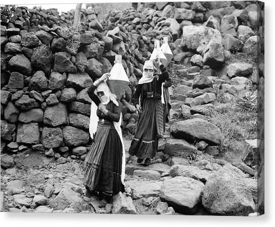 Syria Druze Women, 1938 Canvas Print by Granger