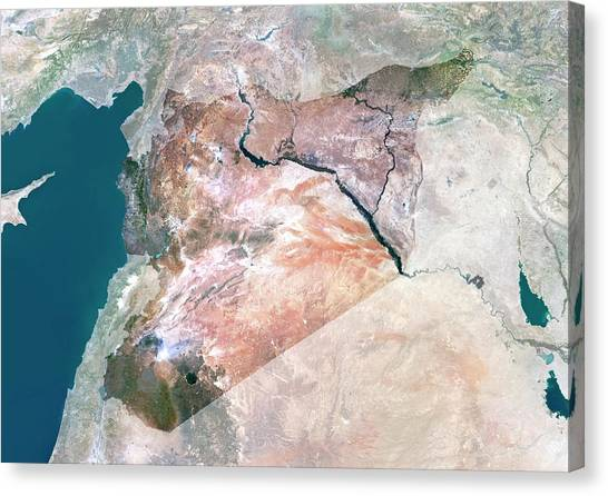 Syrian Canvas Print - Syria by Planetobserver/science Photo Library