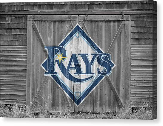 Tampa Bay Rays Canvas Print - Tampa Bay Rays by Joe Hamilton