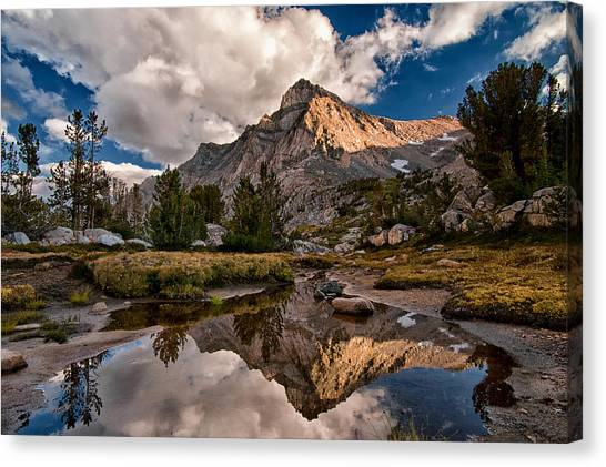 Hill Canvas Print - Tarn Reflection by Cat Connor