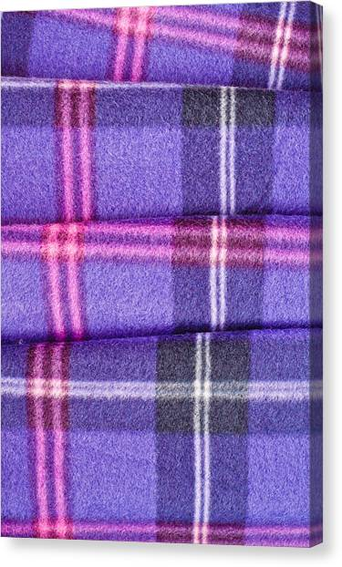 Scottish Folds Canvas Print - Tartan Pattern by Tom Gowanlock
