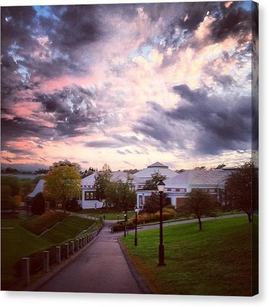 Harvard University Canvas Print - Clouds by Jennifer Gaida