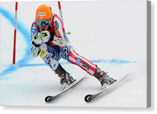 Ted Ligety Skiing  Canvas Print