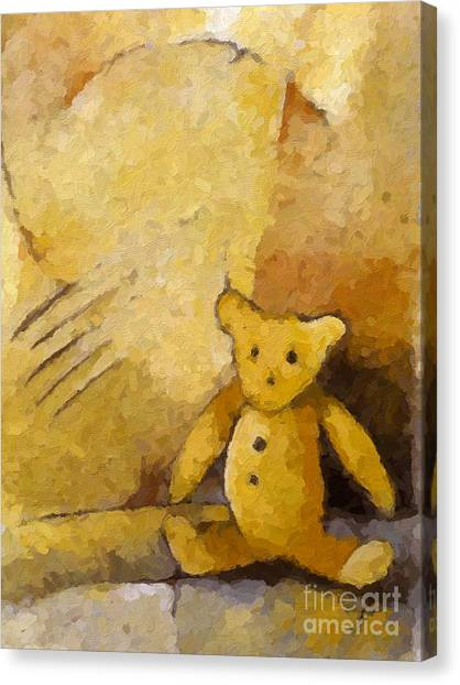 Teddybear Canvas Print - Teddy by Lutz Baar