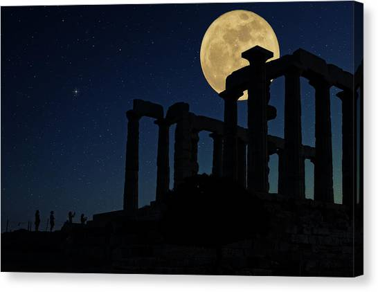 The Acropolis Canvas Print - Temple Of Poseidon  by Emmanuel Panagiotakis