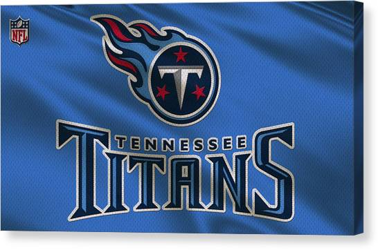 Tennessee Titans Canvas Print - Tennessee Titans Uniform by Joe Hamilton