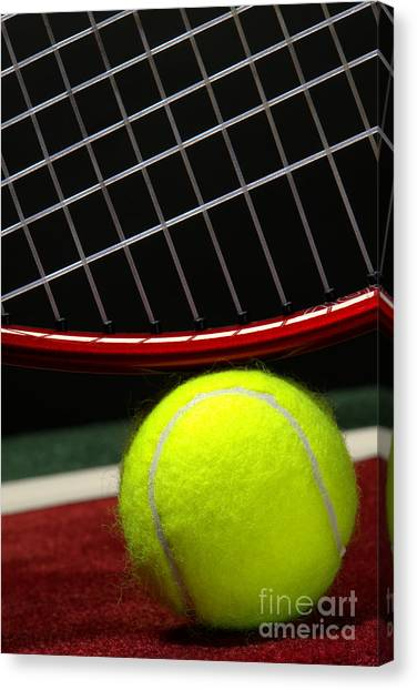 Tennis Pros Canvas Print - Tennis Ball by Olivier Le Queinec