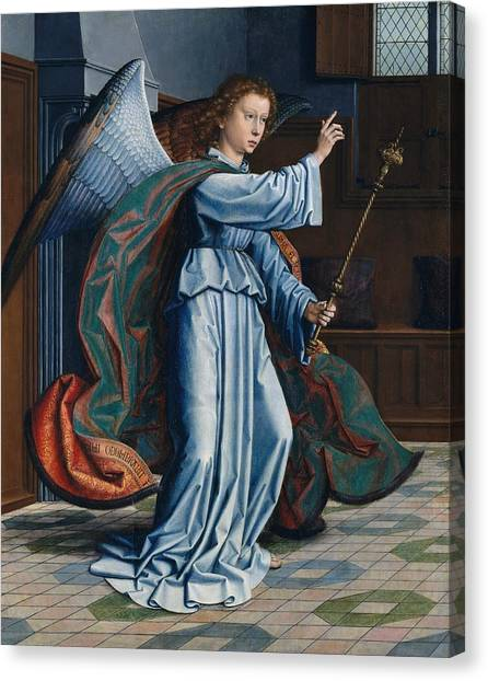 1506 Canvas Print - The Annunciation by Gerard David