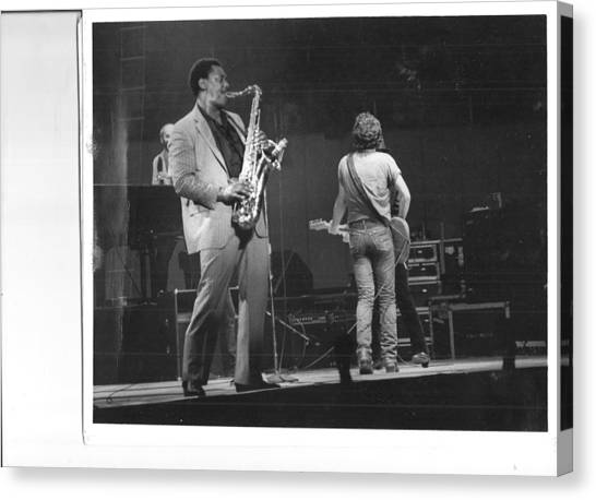 The Boss And Clarence Canvas Print by Bc Adamkowski