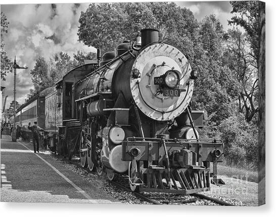 Train Conductor Canvas Print - The Brakeman by Robert Frederick