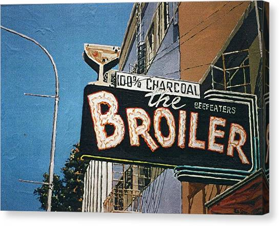The Broiler On J Street Canvas Print by Paul Guyer