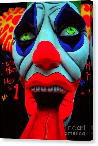 Hole In One Canvas Print - The Clown by Ed Weidman