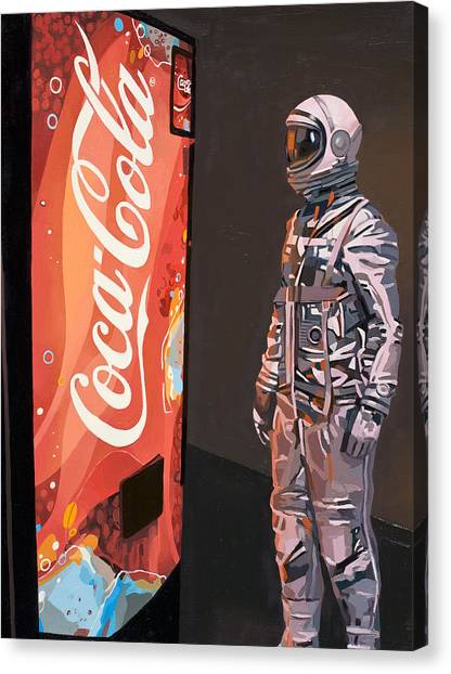 Science Canvas Print - The Coke Machine by Scott Listfield