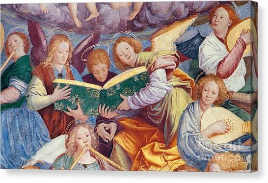 Wind Instruments Canvas Print - The Concert Of Angels by Gaudenzio Ferrari