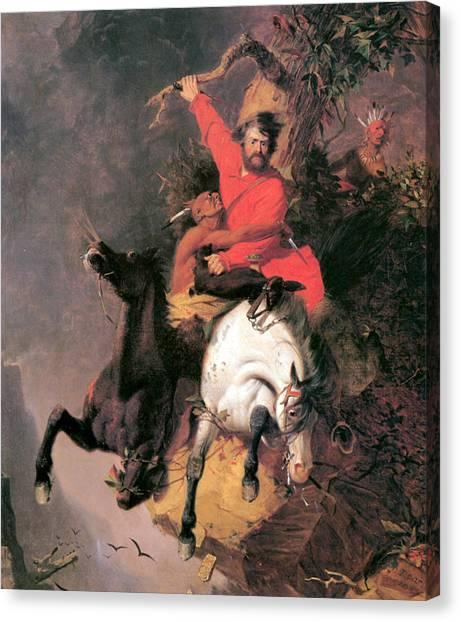 Dea Canvas Print - The Death Struggle by Charles Deas