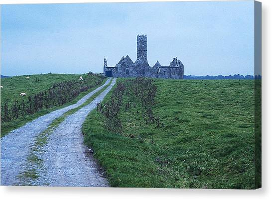 The Deserted Abbey Canvas Print by Carl Purcell