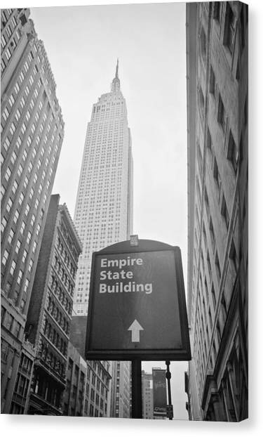 New York City Canvas Print - The Empire State Building In New York City by Ilker Goksen