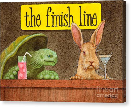 Tortoises Canvas Print - The Finish Line... by Will Bullas