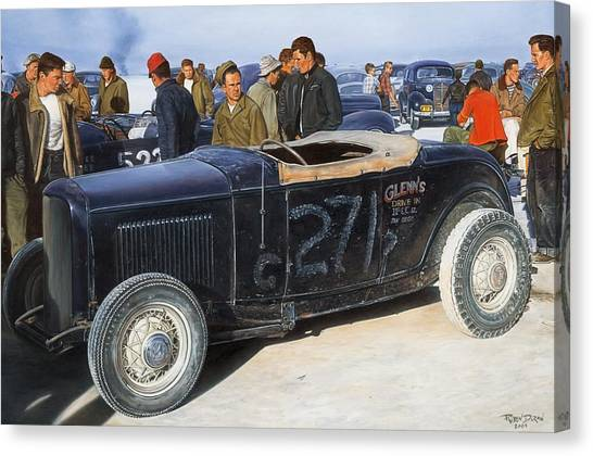 Car Canvas Print - The Frank English Roadster by Ruben Duran