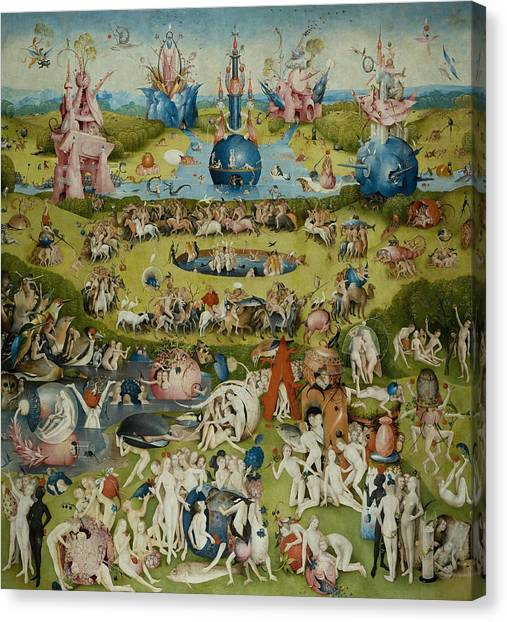 Canvas Print featuring the painting The Garden Of Earthly Delights by Hieronymus Bosch