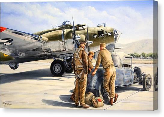 Car Canvas Print - The Gunners by Ruben Duran
