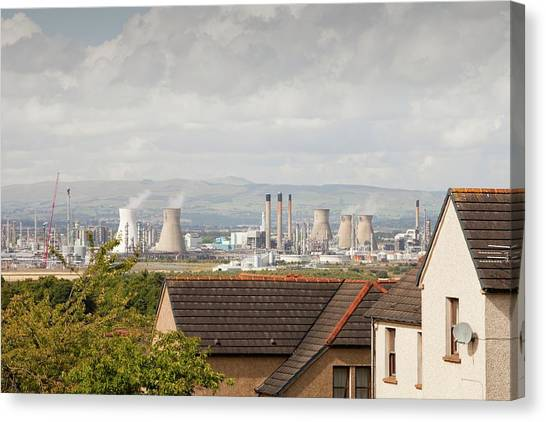 Global Warming Canvas Print - The Ineos Oil Refinery In Grangemouth by Ashley Cooper