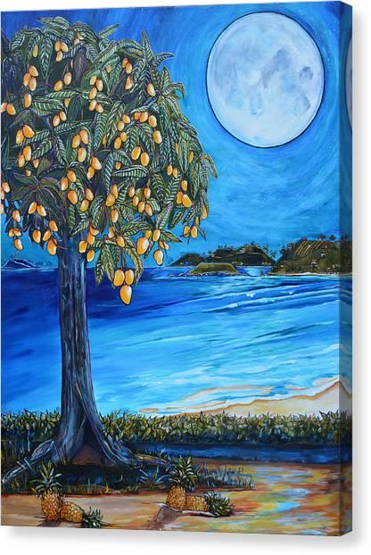 Mangos Canvas Print - The Mango Tree by Patti Schermerhorn