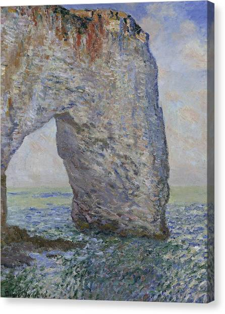 Etretat Canvas Print - The Manneporte Near Etretat by Claude Monet
