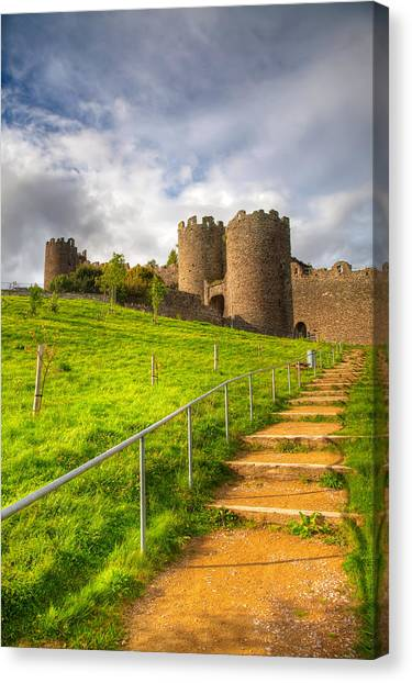 Conwy Castle Canvas Print - The Path Leadeth Me Home by Adrian Evans