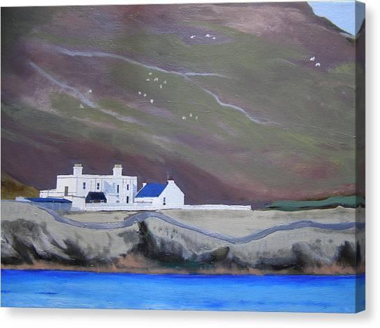 The Shore Station At Burrafirth Canvas Print