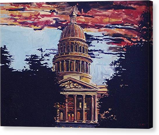 The State Capitol Canvas Print by Paul Guyer