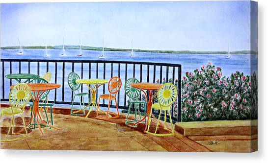 The Terrace View Canvas Print