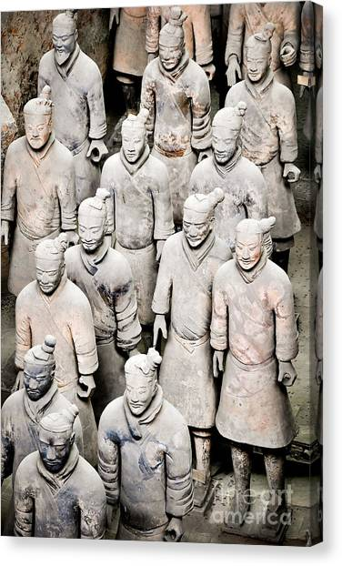 Terracotta Canvas Print - The Terracotta Army by Delphimages Photo Creations