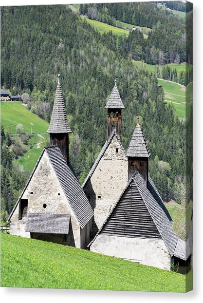 Romanesque Art Canvas Print - The Three Gothic Chapel Of Bad by Martin Zwick