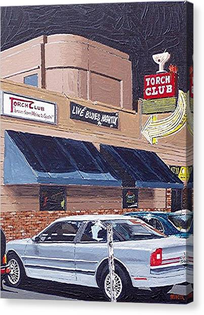 The Torch Club Canvas Print by Paul Guyer