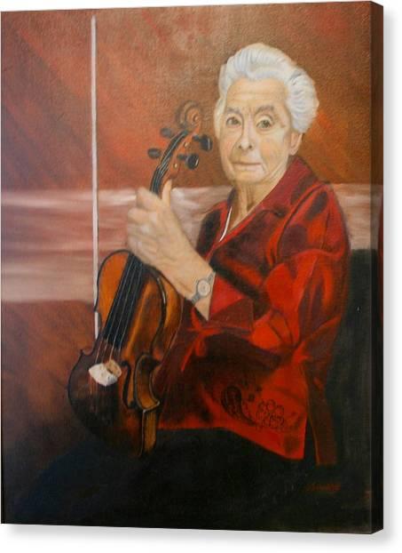 The Violin Canvas Print