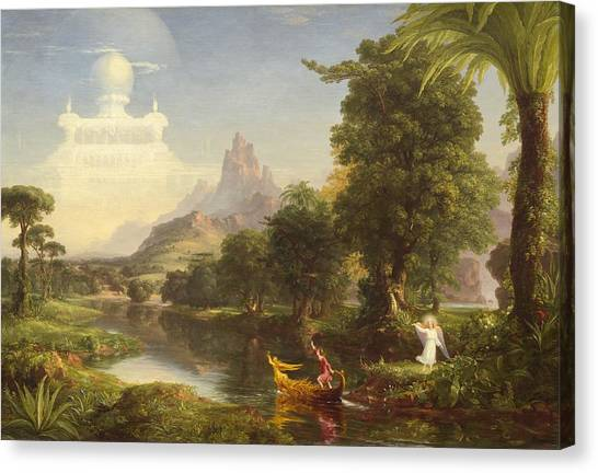 Canvas Print - The Voyage Of Life Youth by Thomas Cole