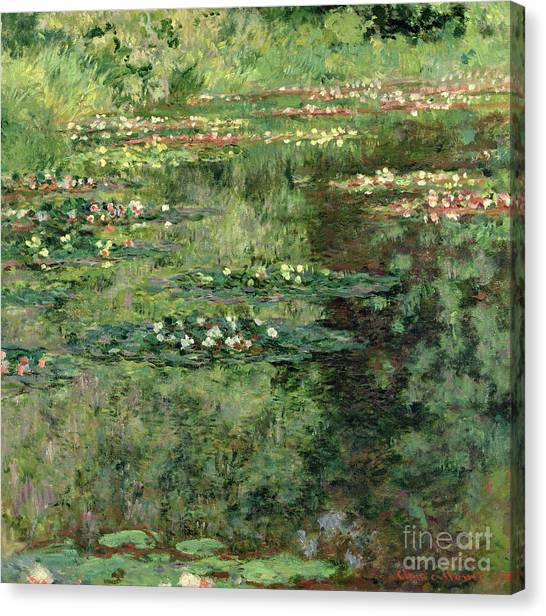 Pollution Canvas Print - The Waterlily Pond by Claude Monet