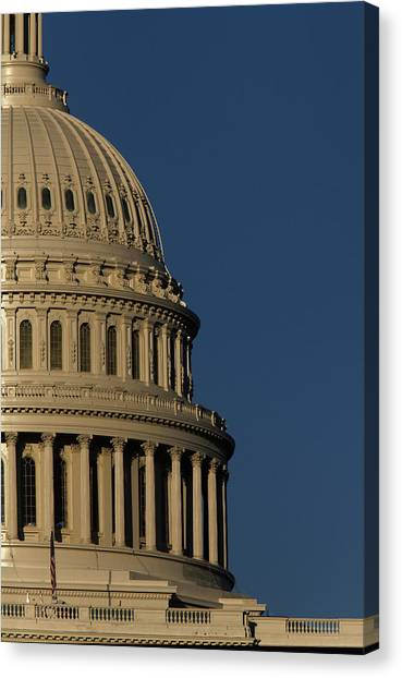 Capitol Building Canvas Print - The West Side Of The United States by Dennis Brack