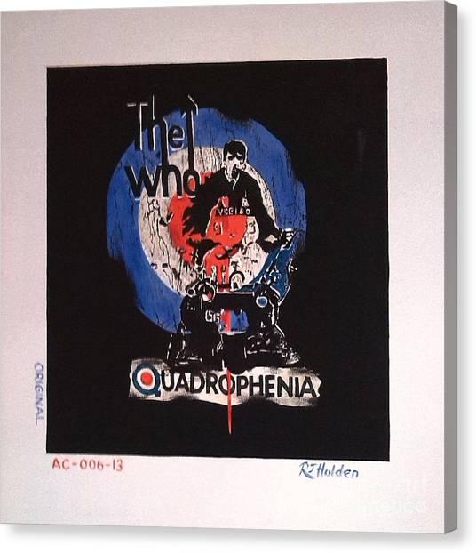 The Who - Quadrophenia Canvas Print by Richard John Holden RA